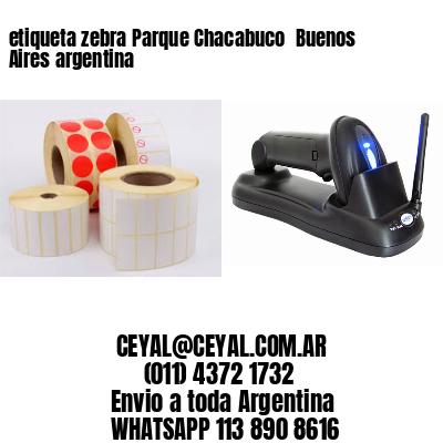 etiqueta zebra Parque Chacabuco  Buenos Aires argentina