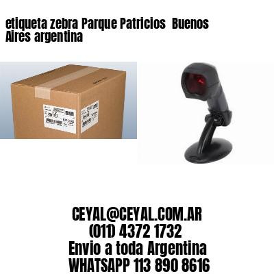 etiqueta zebra Parque Patricios  Buenos Aires argentina