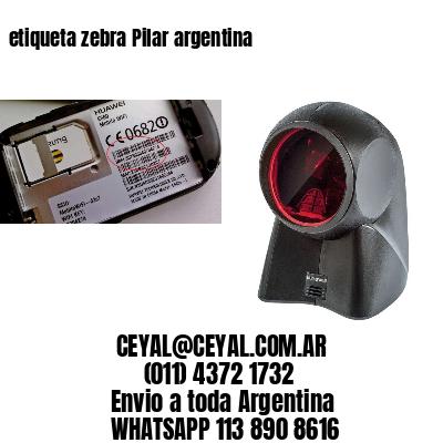 etiqueta zebra Pilar argentina