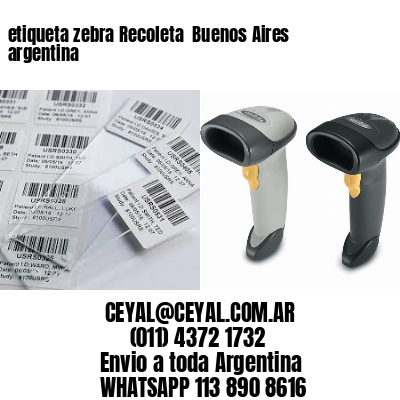 etiqueta zebra Recoleta  Buenos Aires argentina