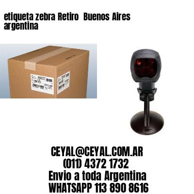 etiqueta zebra Retiro  Buenos Aires argentina