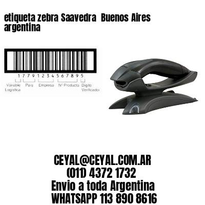 etiqueta zebra Saavedra  Buenos Aires argentina