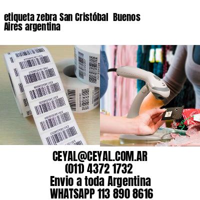 etiqueta zebra San Cristóbal  Buenos Aires argentina