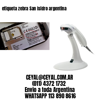etiqueta zebra San Isidro argentina