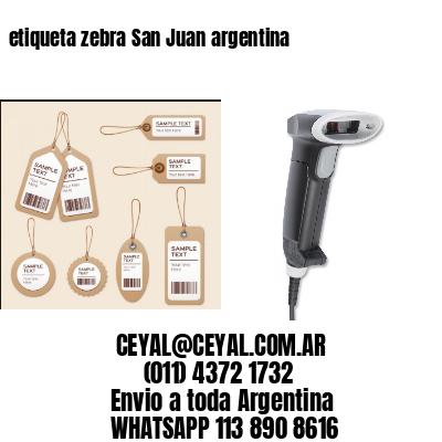etiqueta zebra San Juan argentina
