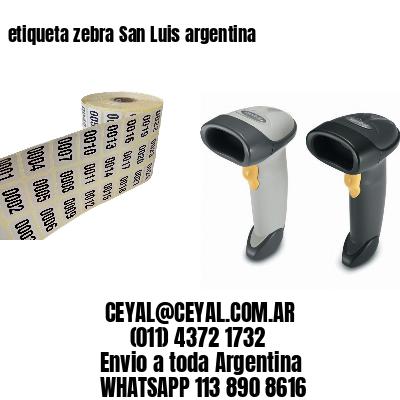 etiqueta zebra San Luis argentina