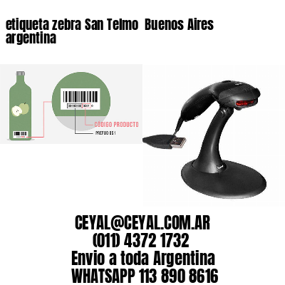 etiqueta zebra San Telmo  Buenos Aires argentina