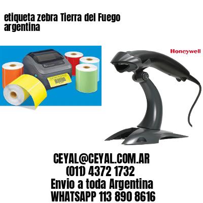 etiqueta zebra Tierra del Fuego argentina