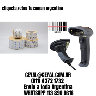 etiqueta zebra Tucuman argentina