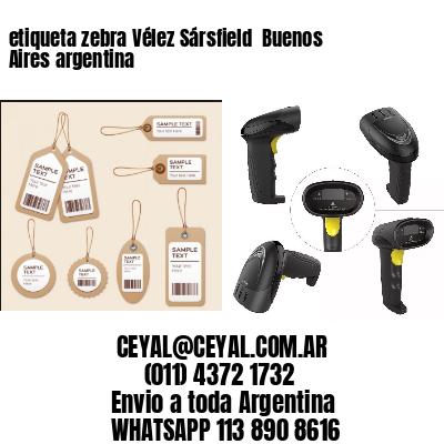 etiqueta zebra Vélez Sársfield  Buenos Aires argentina