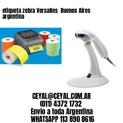 etiqueta zebra Versalles  Buenos Aires argentina