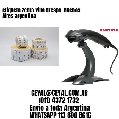 etiqueta zebra Villa Crespo  Buenos Aires argentina