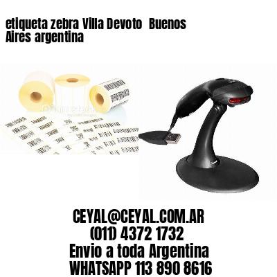 etiqueta zebra Villa Devoto  Buenos Aires argentina