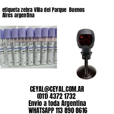 etiqueta zebra Villa del Parque  Buenos Aires argentina