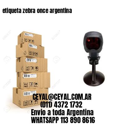 etiqueta zebra once argentina