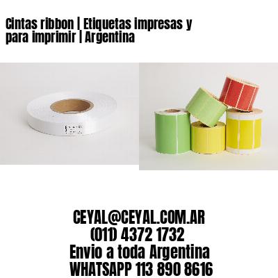 Cintas ribbon | Etiquetas impresas y para imprimir | Argentina