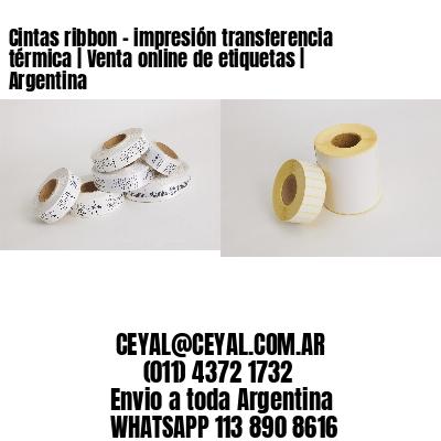 Cintas ribbon - impresión transferencia térmica | Venta online de etiquetas | Argentina