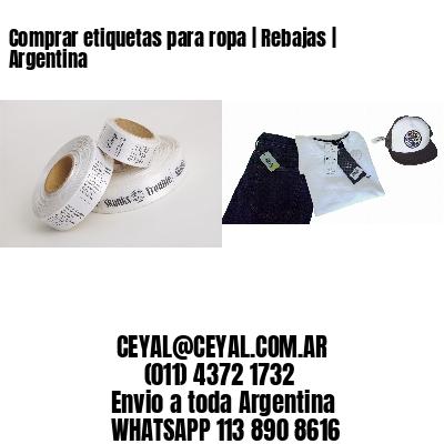 Comprar etiquetas para ropa   Rebajas   Argentina