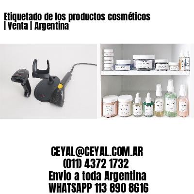 Etiquetado de los productos cosméticos   Venta   Argentina
