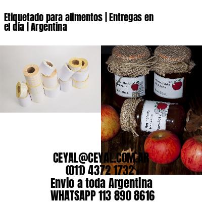 Etiquetado para alimentos | Entregas en el día | Argentina