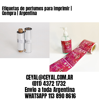 Etiquetas de perfumes para imprimir   Compra   Argentina