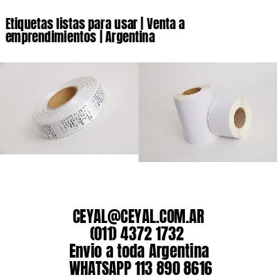Etiquetas listas para usar | Venta a emprendimientos | Argentina