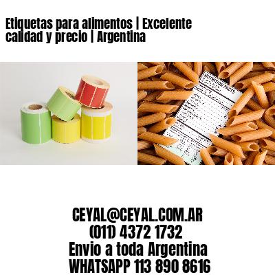 Etiquetas para alimentos   Excelente calidad y precio   Argentina