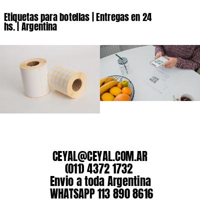 Etiquetas para botellas | Entregas en 24 hs. | Argentina