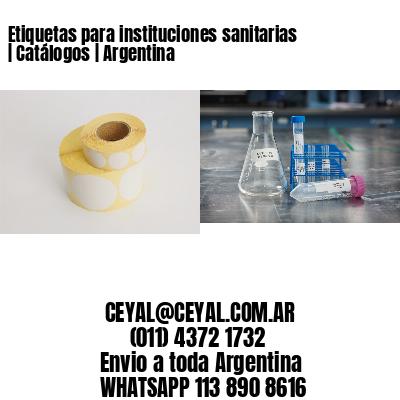 Etiquetas para instituciones sanitarias   Catálogos   Argentina
