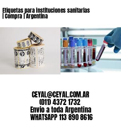 Etiquetas para instituciones sanitarias   Compra   Argentina
