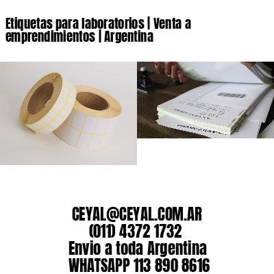 Etiquetas para laboratorios | Venta a emprendimientos | Argentina