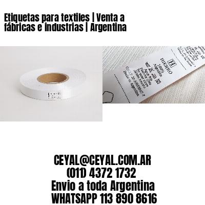 Etiquetas para textiles | Venta a fábricas e industrias | Argentina