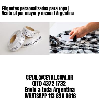 Etiquetas personalizadas para ropa | Venta al por mayor y menor | Argentina
