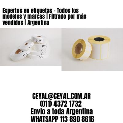 Expertos en etiquetas - Todos los modelos y marcas   Filtrado por más vendidos   Argentina