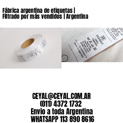 Fábrica argentina de etiquetas | Filtrado por más vendidos | Argentina