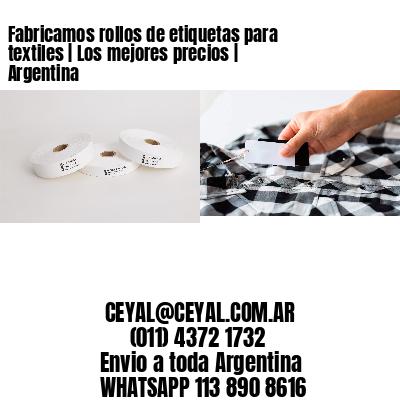 Fabricamos rollos de etiquetas para textiles | Los mejores precios | Argentina