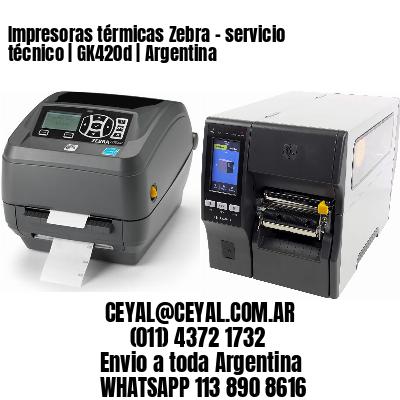 Impresoras térmicas Zebra - servicio técnico | GK420d | Argentina