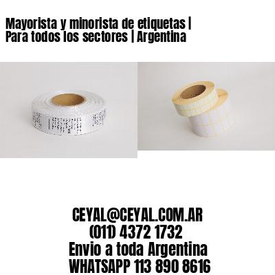 Mayorista y minorista de etiquetas | Para todos los sectores | Argentina