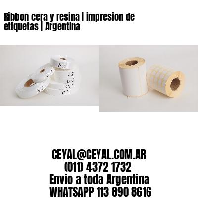 Ribbon cera y resina   impresion de etiquetas   Argentina