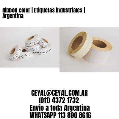 Ribbon color   Etiquetas industriales   Argentina
