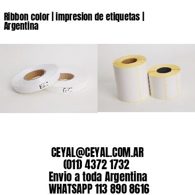 Ribbon color | impresion de etiquetas | Argentina