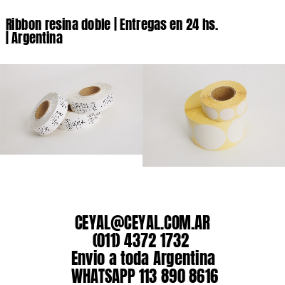 Ribbon resina doble | Entregas en 24 hs. | Argentina