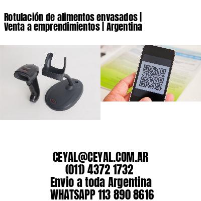 Rotulación de alimentos envasados   Venta a emprendimientos   Argentina