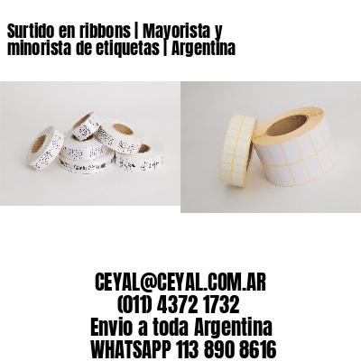 Surtido en ribbons | Mayorista y minorista de etiquetas | Argentina