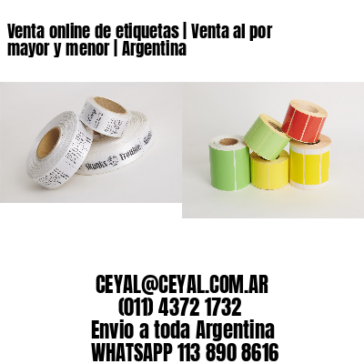 Venta online de etiquetas | Venta al por mayor y menor | Argentina
