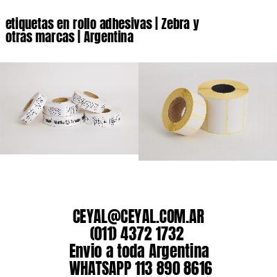 etiquetas en rollo adhesivas | Zebra y otras marcas | Argentina