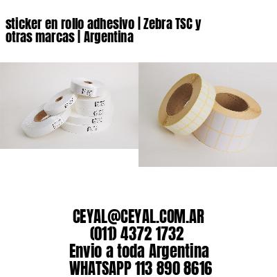 sticker en rollo adhesivo   Zebra TSC y otras marcas   Argentina