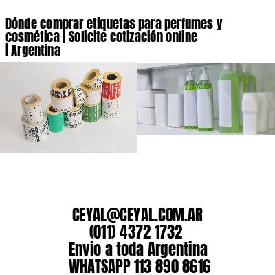 Dónde comprar etiquetas para perfumes y cosmética   Solicite cotización online   Argentina