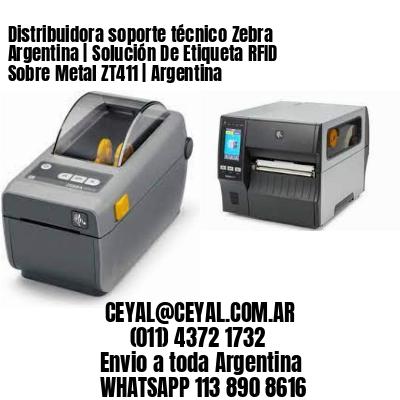 Distribuidora soporte técnico Zebra Argentina   Solución De Etiqueta RFID Sobre Metal ZT411   Argentina