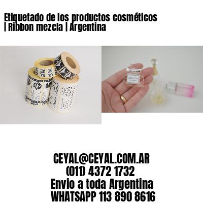 Etiquetado de los productos cosméticos   Ribbon mezcla   Argentina